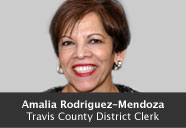 Amalia Rodriguez-Mendoza, Travis County District Clerk